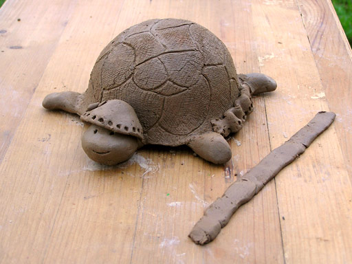 Черепашка из глины